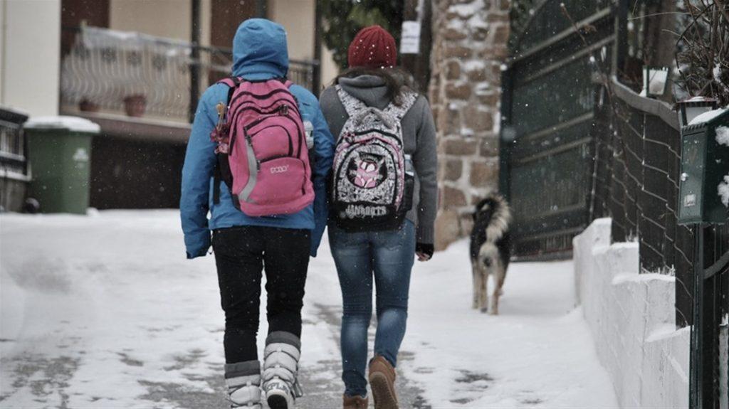 Ποια σχολεία θα μείνουν κλειστά αύριο 8/1/2019